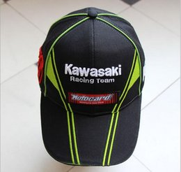 Wholesale Kawasaki Cap - Wholesale- 2016 Hot MOTO GP Kawasaki Ninja 76 Motorcycle Racing Cap Mens Sport Cap Cool Casual Sun Racing F1 Baseball Cap Outdoor Casquette