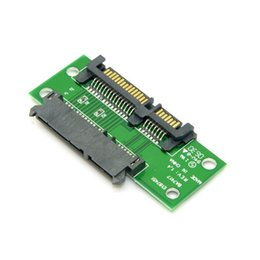 "Wholesale Ide Convertor - 100pcs   lots 3.5"" & 2.5 inch SATA 22Pin 7+15 Male to SATA 22P Female Extension Convertor Adapter PCBA ,By UPS DHL"