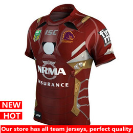 Wholesale Marvel T - Hot sales Latest style Brisbane Broncos Special Edition 2017 Marvel iron man jersey rugby jerseys shirts top quality t-shirts