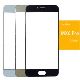 2019 meizu mx5 pro Reemplazo de la lente del panel de vidrio de la pantalla frontal exterior protectora para Meizu MX5 MX6 MX5 Pro MX6 Pro con herramientas Envío gratuito