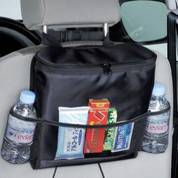 Wholesale Discount Storage Boxes - 2 pcs Discount Auto Car Seat Organizer Holder Multi-Pocket Travel Storage Bag Hanger Storage Box Seat Pocket Catcher Back CDE_003