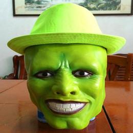 Оптовая Хэллоуин косплей фильм Маска Джим Керри Маска - Хеллоуин костюм опора полная голова клоун Локи Маска анфас глава Cap игрушка от