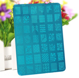Wholesale Large Nail Plates - Wholesale-1 Piece Pattern Designs Nail Stamp Stamping Image Konad Plate Print Nail Art large Template DIY NA584