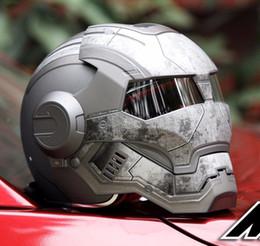 Wholesale Motorbikes Helmets - Iron Man Helmet automic man DOT Ironman helmet motorcycle motorbike Iron man 610 Masei open face factory wholesale