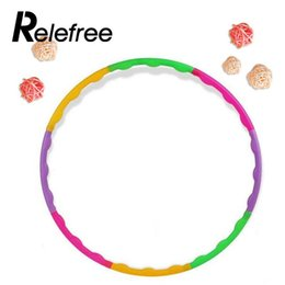 Wholesale Kids Aerobics - Wholesale- Relefree Universal 65cm Colourful Kids Hula Hoop Child Sports Aerobics Adjustable