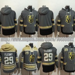 Wholesale Hockey Sweaters - 2017-2018 New Season Team #29 Marc-Andre Fleury Hockey Hoodie Vegas Golden Knights Hoodie High Quality Stiched Sweater Jersey