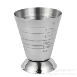 Wholesale Cocktail Measure Cup - Bar Coffee Stainless Steel Practical Measure Cup Multi Function High Quality Bartender Tool Cocktail Belt Scale Hot Sale 15mt J R