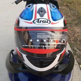 Wholesale Black Helmet Arai - Motorcycle helmet Racing helmet Rx7 - top RR5 Arai motorcycle helmet full - dual lens black mirror men and women personal