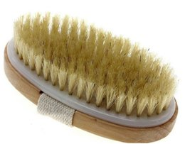 Wholesale Body Spa Sauna - Natural Bristle Body Brush Dry Skin Bath Body Brush Natural Boar Bristle Spa Sauna Exfoliator