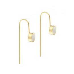 Wholesale original gold earrings - 2017 Summer Hot Style Women's Delicate Basic Stud Earrings Copper Plated 14 k Gold Jewelry Earrings Original Design Top Quality