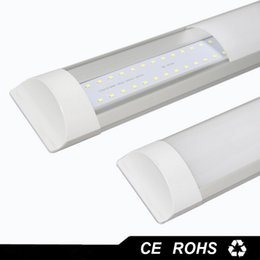 Wholesale Double Ceiling Led - New Surface Mounted LED Batten Tubes Lights Double row T8 LED tri-proof Lamps 1ft 2ft 3ft 4ft 40W T8 LED tube lights ceiling fixture