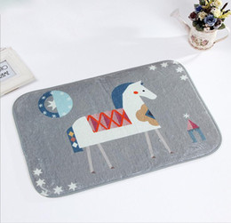 Wholesale Carpet - European pastoral style cartoon floor carpet Non-Slip door mat bathroom carpets dust-protected kitchen rugs Home decorative 40*60cm mat