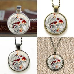 Wholesale Wholesale Asian Art - 10pcs Koi Fish chinese Carp Asian Art pendant Necklace keyring bookmark cufflink earring bracelet