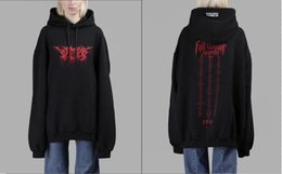 Wholesale Cotton Logos Design - Rare Cool 2018 hip hop design vetements Gothic font LOGO men and women Oversized pullover hoodie S to XL