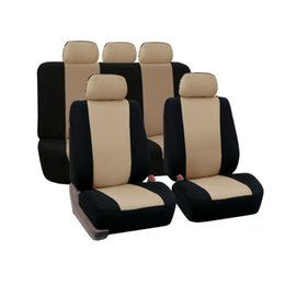 Wholesale red car seats - 9 Piece Automobiles Seat Covers Full Car Seat Cover Universal Fit Interior Accessories Protector Gray Red Blue Begin Car-Styling