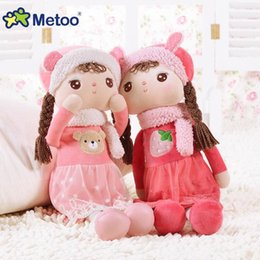 Wholesale Metoo Stuff Toys - 41CM Toy For Girls Metoo Angela Reborn Babies Soft Kawaii Stuffed Plush Inflatable Doll For Kid Children Christmas Birthday Gift