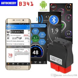 Wholesale Audi Bluetooth Module - 2016 V-checker iOBD B341 Bluetooth OBD Module for Android mobile support the OBD standard vehicles