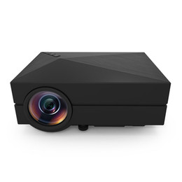 Wholesale Tv Inch China - Wholesale-GM60 cheap digital projector home cinema 5.1 120 inches contrast ratio 1000:1 1000 lumens china lcd tv