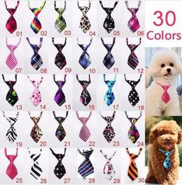 Wholesale Handmade Sales - 100pc lot Factory Sale New Colorful Handmade Adjustable 100pcs Lot New Arrival Pet Dog Neckties Bowtie Wholesale Mix 30-40 Patterns P01