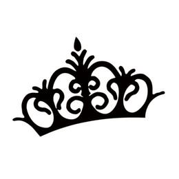 Wholesale Sticker Crown - Crown Princess Queen King Cute Funny Car Styling Vinyl Decal Sticker Jdm Car Window Motorcycle JDM