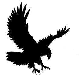 Wholesale Decal Eagle - Wholesale 10pcs lot Soaring Eagle Justice Domineering Birds Car Sticker for Motorhome Wall Motorcycles Car Styling Reflective Vinyl Decal