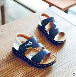 Wholesale Top Fashion Sandals - Big Kids Youth Genuine Leather Children Shoes Sandals Top Quality Boys Youth Leather Beach Shoes Teen Fashion Sport Sandals EU 26~39
