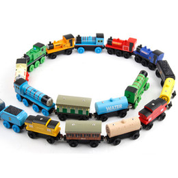 Wholesale Build Wooden Train - 2017 TRAIN CAR LOT OF 53pcs wooden Complete set of car toy train toys (1set=53pcs) hot selling