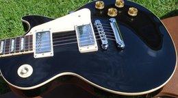 Wholesale Gloss Standard - free shipping Paul Standard Ebony Gloss Black electric guitar