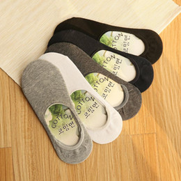 Wholesale Invisible Socks For Men - Summer Women Cotton Bamboo fiber Socks Low Socks Cotton Seamless Invisible Socks Sock Slippers For Men