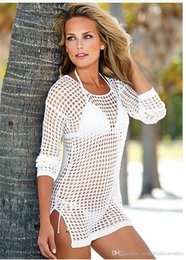 Wholesale wholesale white apparel - Swimwear Cover Up Exotic Apparel Sexy Hallow Out Black Womens Mesh Dress Polyester Sexy Lingerie One Piece Dress Sexy See-Through Cover-ups