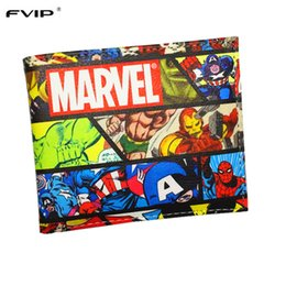 Wholesale Gear Wars - Wholesale- FVIP Wallet Marvel Comics Heroes Thor Hulk Deadpool Thing X-Man Gears of War Short Wallets With Card Holder Purse Drop Shipping