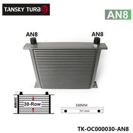 Transmissões de motores on-line-Tansky - motor de 30 fileiras / transmissão 10AN Oil Cooler para Universal sem logotipo tem em estoque TK-OC000030