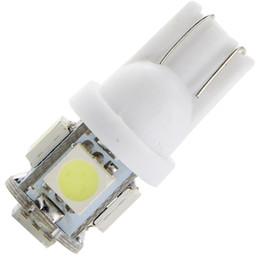 Wholesale Reverse Leds - 500X T10 194 168 W5W 12V 5050 5 SMD 5 LEDs LED Light Bulb Clearance Light Parking Light Indicator Reading Lamps White