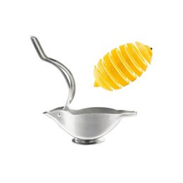 Wholesale Lime Squeezer Stainless Steel - Novelty Bird Shape Stainless Steel Lemon Squeezer Fruit Manual Juicer Presser Lime Squeezers Kitchen Fresh Juice Tools ZA3187