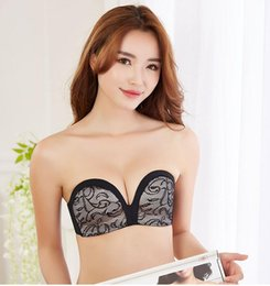 18c13d6a88c18 Women s Slightly Padded Push Up Great Support Lace Strapless Bra