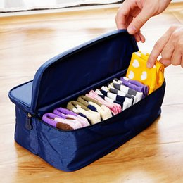 Wholesale Travel Socks Bag - Fashion Double Open Travel Storage Bag Multifunctional Waterproof Storage Box Package Luggage Underwear Socks Tidy Organizer