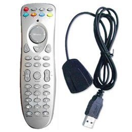 Wholesale computer remote controller - Wholesale-New Hot Mini USB Infrared Remote Controller Digital Controller Media PC Computer