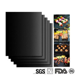 Wholesale Wholesale Foil Sheets - 0.2mm Thick ptfe Barbecue Grill Mat 33*40cm non-stick Reusable BBQ Grill Mats Sheet Grill Foil BBQ Liner