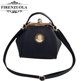 Wholesale Clip Shoulder Bag - Wholesale- Firenzuola The New Fashion Matte Beauty Head Clip Mouth Portable Shoulder Bag Female #550