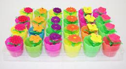 Vários tipos on-line-Crescendo Na Água A Granel Inchaço Flor E Pote Vários tipos de Brinquedos de Expansão Enigma Colorido Criativo Brinquedos Mágicos Decoração