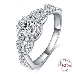 Wholesale Lovely Ring Diamond - New brand lovely women aaa cubic zirconia diamond rings 925 sterling silver wedding engagement ring jewelry dropshipping