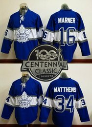100th leafs 2017 Draft  16 MARNER  34 Matthews Blue 2017 winter classic  Hockey Jerseys Stitched Mix Order 17d0d0e3e38