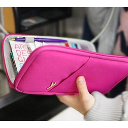 Wholesale Purse Bags Accessories - Travel Accessories Women's Storage Bags Brand Wallet for Passport Credit ID Cards Tickets Holder Waterproof Hasp Purse Bag
