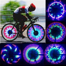 Wholesale 32 Led Bike Wheel Lights - New Arrival Colorful Bicycle wheel Lights Bike Cycling Wheel Spoke Light 32 LED 32-pattern Waterproof Drop Shipping DHL Free