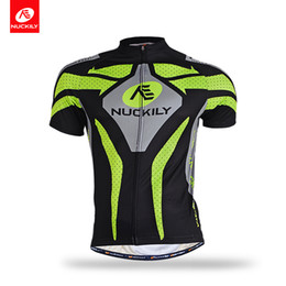 Wholesale Gripper Elastic - NUCKILY Men's summer short sleeve cycling jersey with silicone elastic gripper MA005