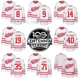 2017 Centennial Classic Hockey Jerseys Detroit Red Wings 71 Dylan Larkin 8 Justin  Abdelkader 14 Gustav Nyquisi 40 Henrik Zetterberg White 6dd60f4b0