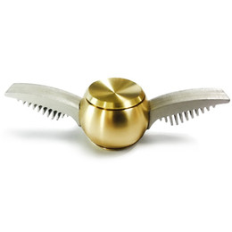 Wholesale Metal Hand Fans - Newest Spinner Golden Snitch Harry Potter Fans Fidget Spinner Metal Finger Spinner Anti Relieve Stress Hand Toys With Metal Box