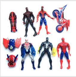 lámparas de muñeca Rebajas Spider man: muñecos de fiesta de juguete 16 cm 2017 nuevos niños Figuras de acción Spider man LED lámpara dibujos animados PVC juguetes XT