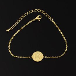 Wholesale Good Luck Bracelets For Women - Wholesale 10Pcs lot 2017 New Fashion Bracelets Snap Jewelry Clover Silver Charm Bracelets for Women Keep Me For Good Luck Engraved Bracelet