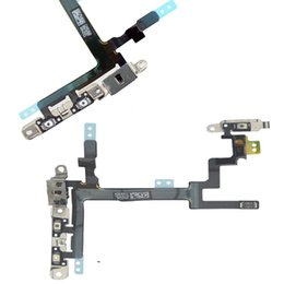 Wholesale Power Cable Test - Tested Power Mute Volume Button Switch Flex Cable with Metal,Ribbon For iPhone Replacement Power On Off Control Flex Cable